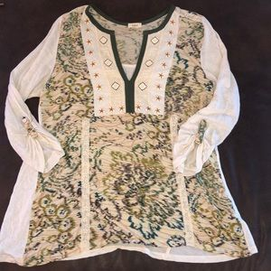 Anthropologie Tiny Top Embroidered Size Small